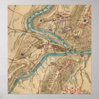 Vintage Harpers Ferry Civil War Map (1862) Poster