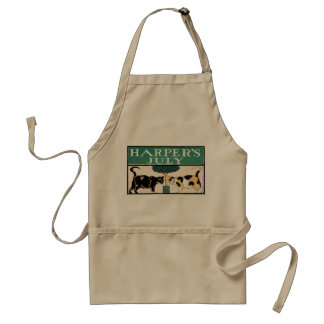 Vintage Harper's July Cats by Edward Penfield Adult Apron