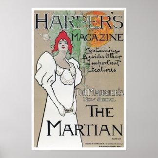 Vintage Harper's Magazine Du Maurier series ad Poster