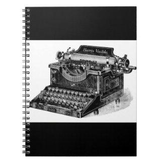 Vintage Harris Visible Typewriter Spiral Notebook