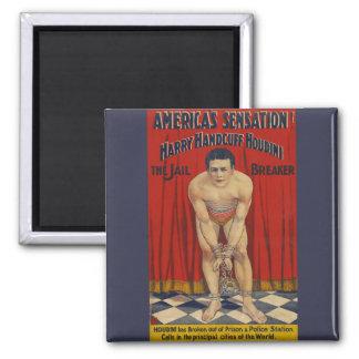 Vintage Harry Handcuff Houdini - The Jail Breaker Magnet