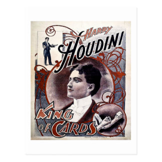 Vintage Harry Houdini King of Cards Advertisement