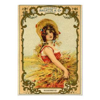 Vintage Harvest Girl Invitation