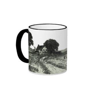 Vintage Harvest Scene Mug