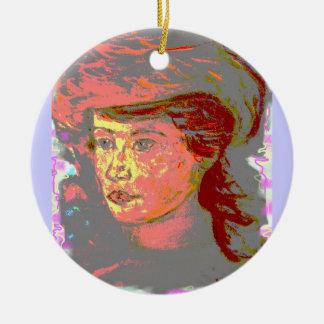 vintage hat girl christmas ornaments