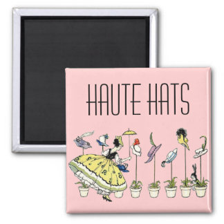 Vintage Hat Shopper Magnet