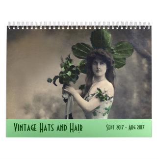Vintage Hats and Hair ---Sept 2017 - Aug 2018 Calendar