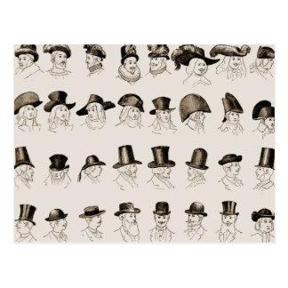 Vintage Hats Postcard