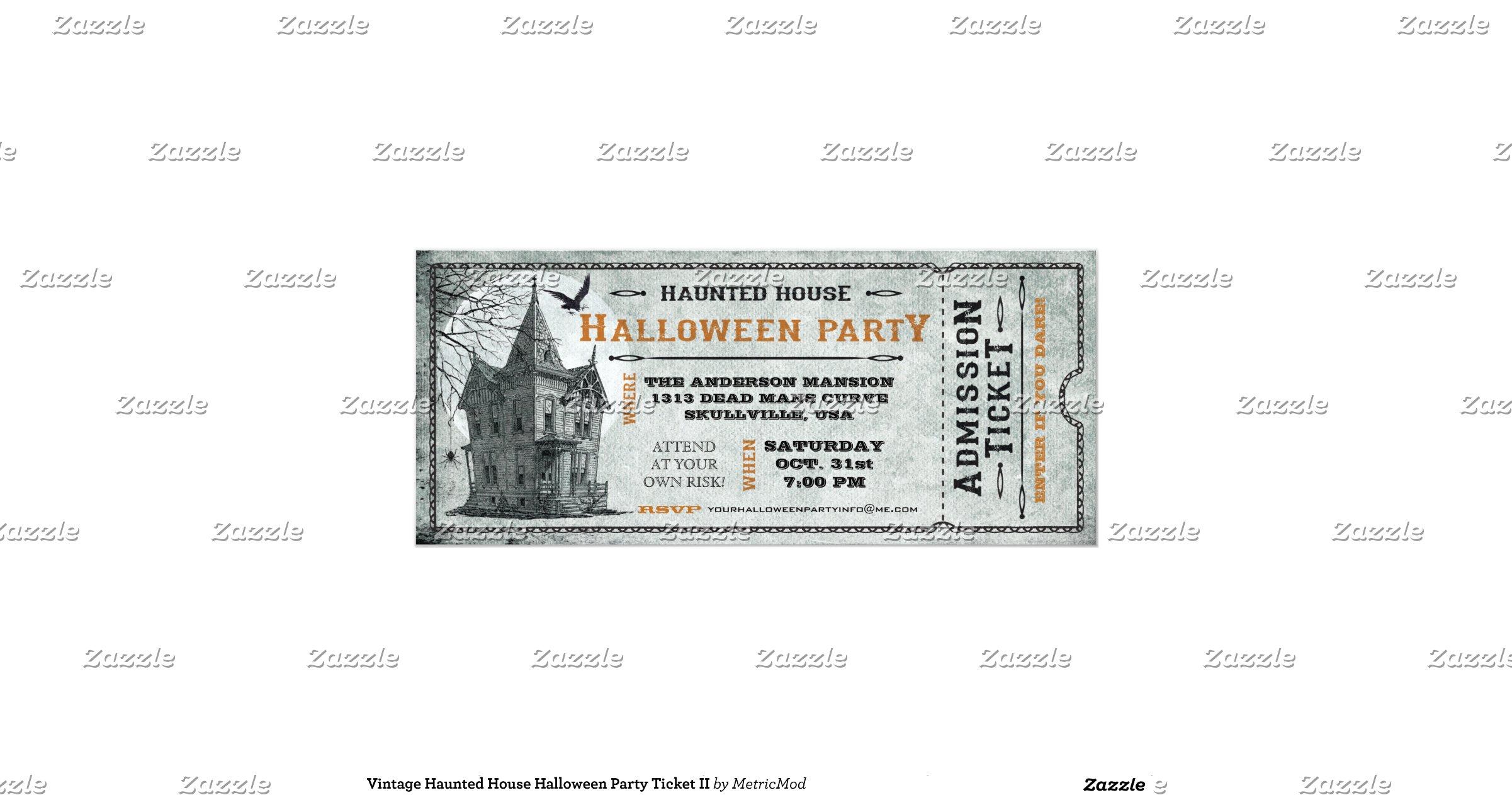 Haunted House Creepy Halloween Party Invitations on Flipboard