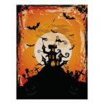 Vintage haunted house poster