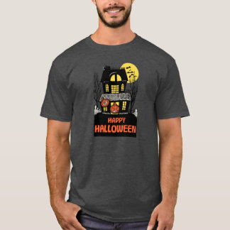 Vintage Haunted House Trick or Treat Halloween T-Shirt