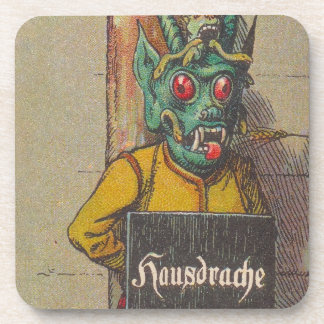 Vintage hausdrache house dragon Coasters Game Gift