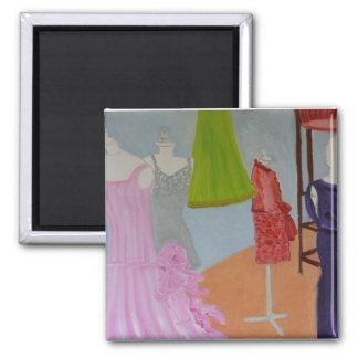 Vintage Haute Couture 2 Inch Square Magnet