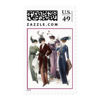 Vintage Haute Couture High Women in Fashion Stamps