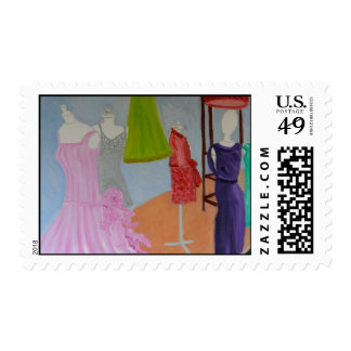 Vintage Haute Couture Postage Stamp