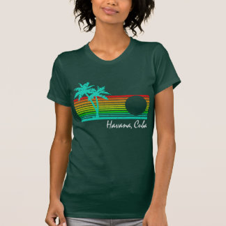 Vintage Havana, Cuba - Distressed Design T Shirt