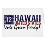Vintage Hawaii del Partido Verde del voto en 2012  Tarjeton