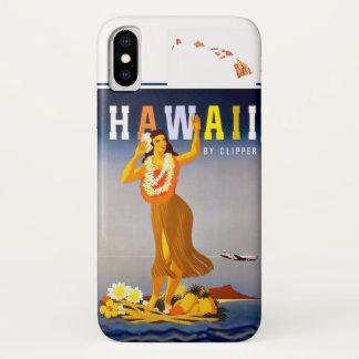 Vintage Hawaii Hula Art Hawaiian Islands iPhone X Case
