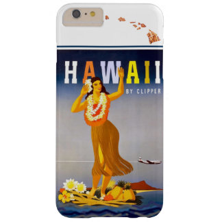 Vintage Hawaii Hula Art Hawaiian Islands Map Barely There iPhone 6 Plus Case