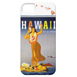 Vintage Hawaii Hula Art Hawaiian Islands Map iPhone SE/5/5s Case