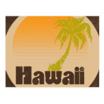 Vintage Hawaii Logo Postcard