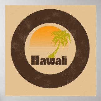 Vintage Hawaii Logo Poster