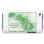 Vintage Hawaii Map, Green iPod Case-Mate Cases