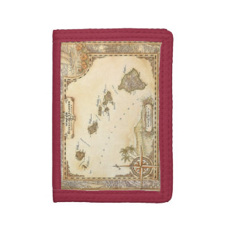 Vintage Hawaii Map - Tri fold wallet