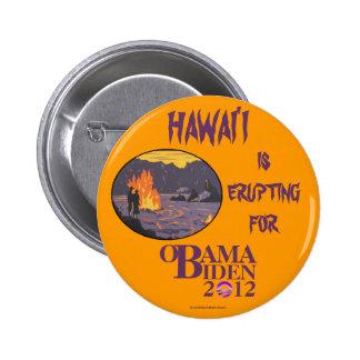 Vintage Hawaii para OBAMA BIDEN en 2012 p político Pin Redondo De 2 Pulgadas