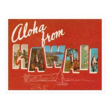 archemedes Vintage Hawaii Postcard