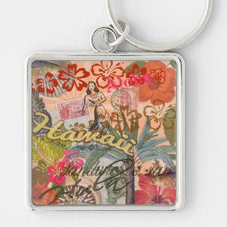 Vintage Hawaii Travel Colorful Hawaiian Tropical Keychain