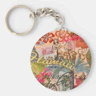 Vintage Hawaii Travel Colorful Hawaiian Tropical Keychains