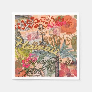 Vintage Hawaii Travel Colorful Hawaiian Tropical Napkin