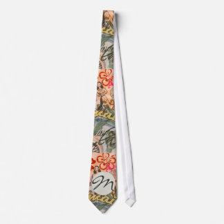 Vintage Hawaii Travel Colorful Hawaiian Tropical Tie