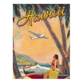 Vintage Hawaii Travel Postcard