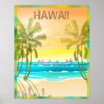 Vintage Hawaii Travel Poster