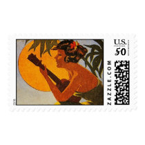 Vintage Hawaii Ukulele Stamp