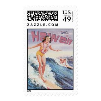 Vintage Hawaii, USA - Postage Stamps