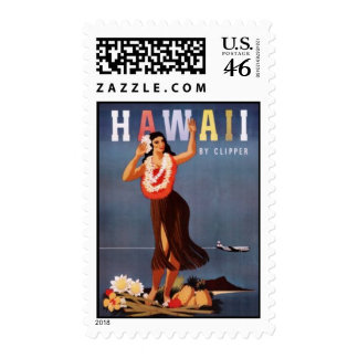 Vintage Hawaii USA - Stamp