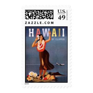 Vintage Hawaii, USA - Stamp