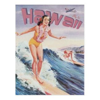Vintage Hawaii, USA - Postcard