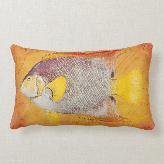 Vintage Hawaiian Angel Fish - Hawaii Antique Lumbar Pillow