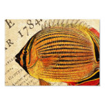 Vintage Hawaiian Butterfly Fish Customized Antique Personalized Invitations