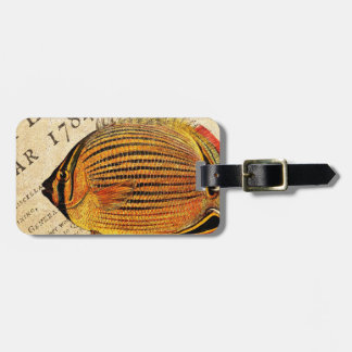 Vintage Hawaiian Butterfly Fish Customized Antique Tag For Luggage