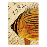 Vintage Hawaiian Butterfly Fish Customized Fishes Large Business Cards (Pack Of 100)