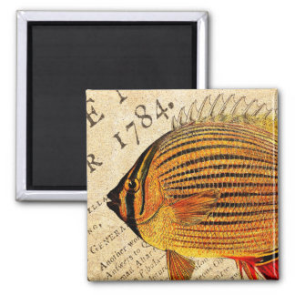 Vintage Hawaiian Butterfly Fish Customized Fishes Magnet