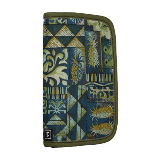 Vintage Hawaiian Fabric in greens and blues Planners