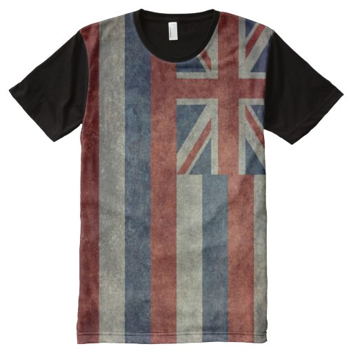 Vintage hawaiian flag all over print t shirt zazzle for T shirt printing hawaii