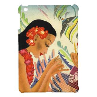 Vintage Hawaiian pin-up girl Cover For The iPad Mini