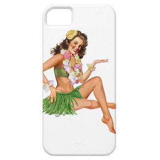 Vintage Hawaiian pin-up girl iPhone 5 cases